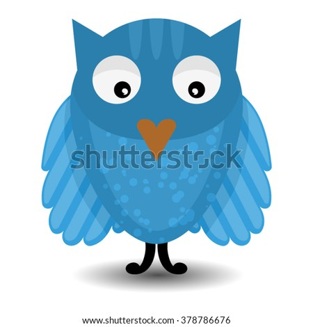 Cute vector owl character. Cute and adore vector Bright Owl - stock vector