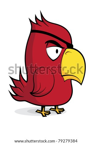 cute vector parrot on white background - stock vector