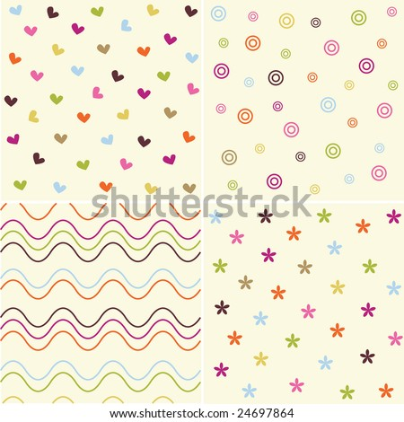 cute vector pattern - stock vector