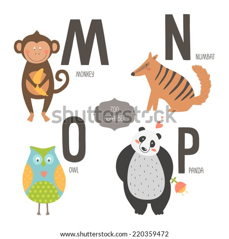 Animal Letters Stock Royalty Free & Vectors