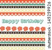 Cute vintage birthday greeting card - stock vector