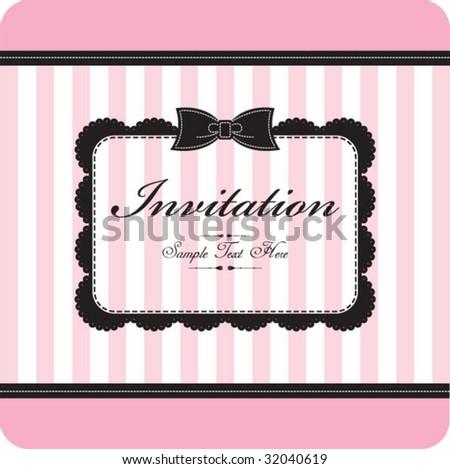 cute & vintage template - stock vector