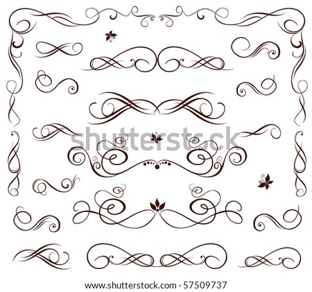 Cute wedding stencil - stock vector