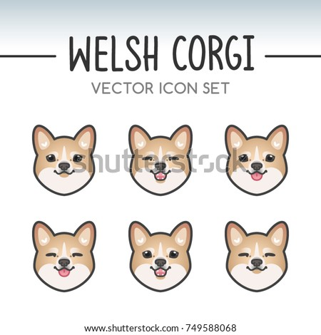Cool Small Anime Adorable Dog - stock-vector-cute-welsh-corgi-pembroke-dog-breed-vector-icon-sticker-set-inspired-by-kawaii-japanese-anime-style-749588068  2018_164817  .jpg