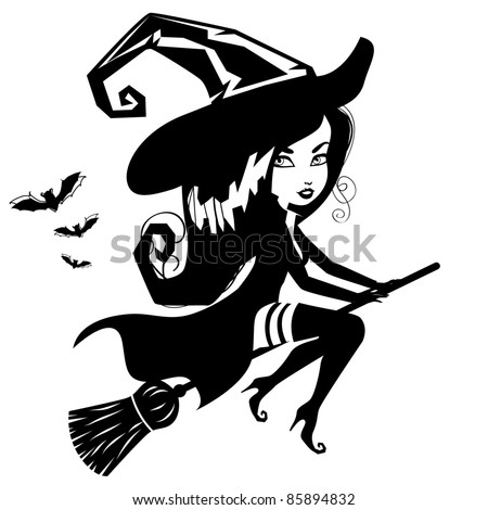 Witch Silhouette Stock Images, Royalty-Free Images ...