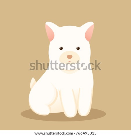 Fantastic White Chubby Adorable Dog - stock-vector-cute-young-white-chubby-puppy-dog-in-flat-style-lovely-adorable-pet-vector-illustration-766495015  Graphic_144492  .jpg