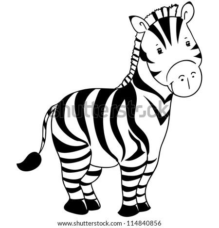 cute zebra contour