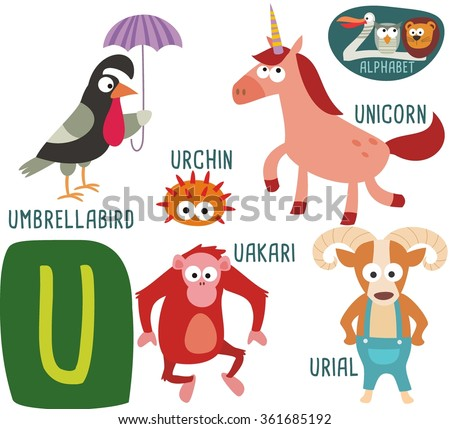 cute zoo alphabet vector z letter stock vector 361685189