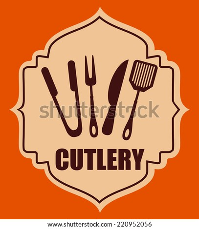 cutlery graphic design , vector illustration