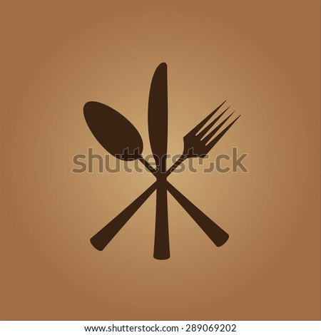 Cutlery Icon - stock vector