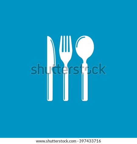 cutlery set - stock vector