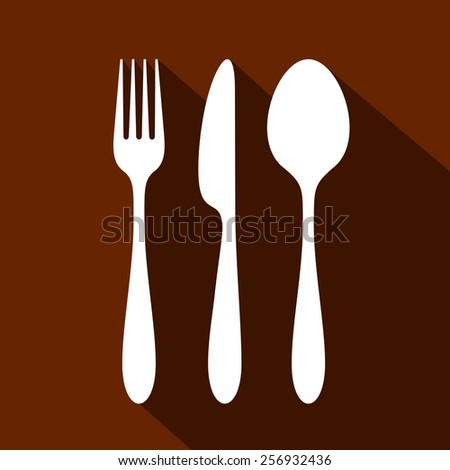 cutlery set - clean perfect shapes - stock vector