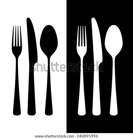 Cutlery, vector illustration - stock vector