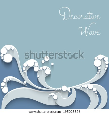 Cutout paper waves, abstract wavy background, vector eps10 - stock vector