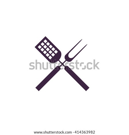 Cutters Simple flat blue vector icon on white background - stock vector