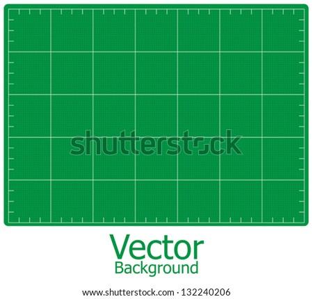 Cutting mats green, vector. - stock vector
