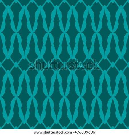 Cyan abstract background, striped textured geometric seamless pattern