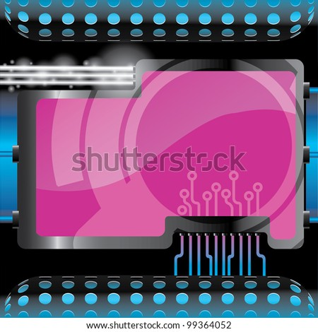 cyber background - stock vector