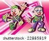 Cyber kids 2 - stock vector