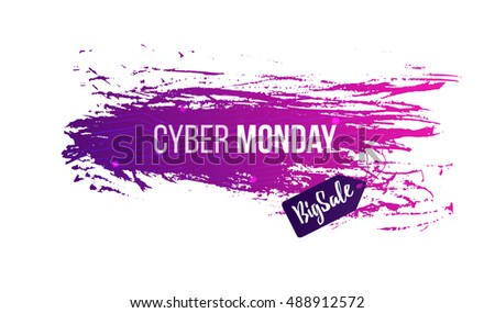 Cyber Monday Background, Sale Design Template, Banner, Discount For  Clothing, Electronics,