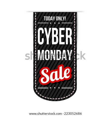 Cyber Monday banner design over a white background, vector illustration - stock vector