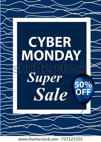 Cyber monday flyers templates your poster stock vector 737121535 cyber monday flyers templates for your poster design invitation banner special offer stopboris Images