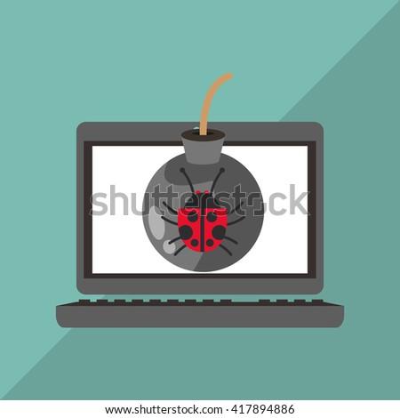 Cyber Security antivirus design  - stock vector