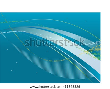 Cyberspace Super Information Highway (VECTOR) - stock vector