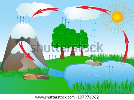 Water cycle diagram stock images royalty free images vectors cycle water in nature environment ccuart Image collections