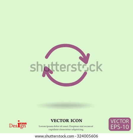 cyclic vector icon - stock vector