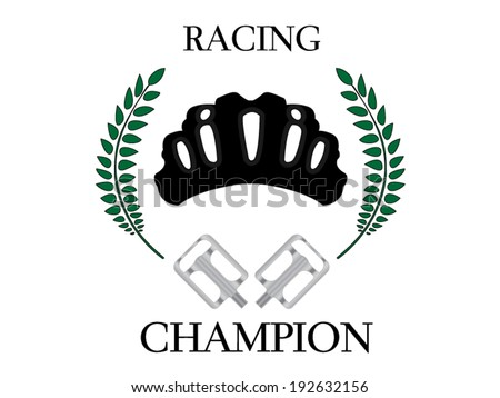 Cycling Champion 1 - stock vector
