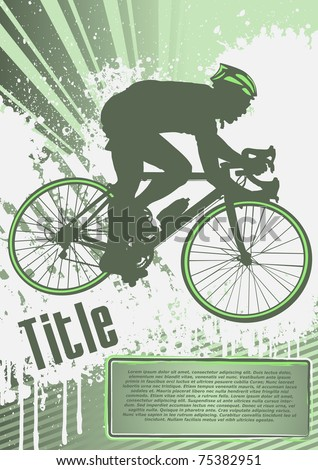 Cycling Grunge Poster Template