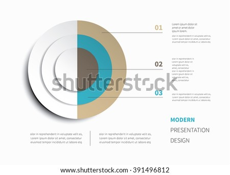cycling infographic chart with shadow and options / vector circle chart - stock vector