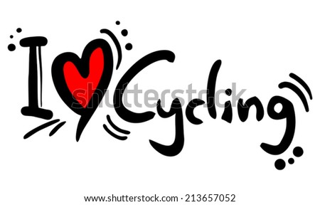 Cycling love - stock vector