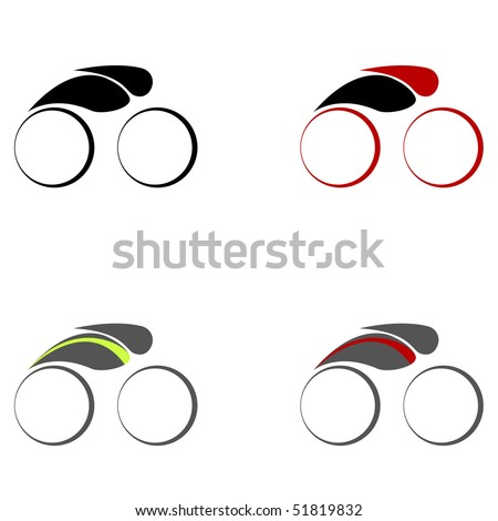 Cycling symbols.Vector illustration. - stock vector