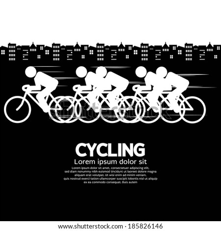 Cycling Vector Illustration - stock vector
