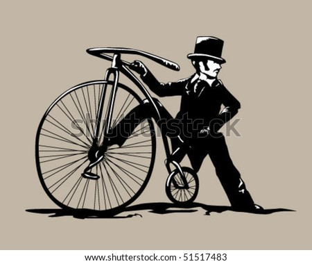 Cycling with attitude. - stock vector