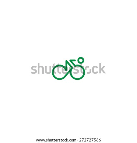 Cyclist symbol - stock vector