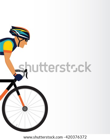 cyclist vector illustration  - stock vector
