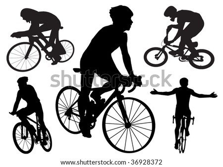 Cyclists - stock vector