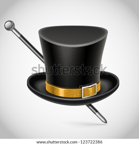 Cylinder hat vector isolated - stock vector