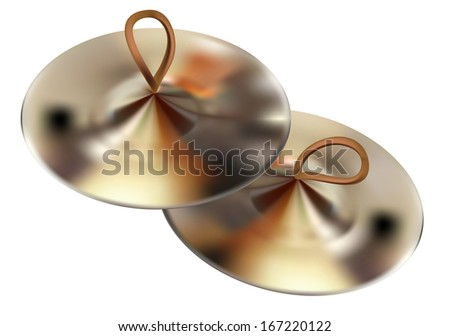 cymbals - stock vector