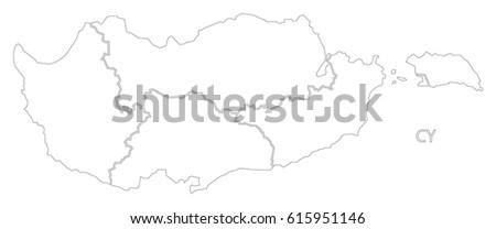 Cyprus Region Map Stock Images RoyaltyFree Images Vectors - Cyprus blank map