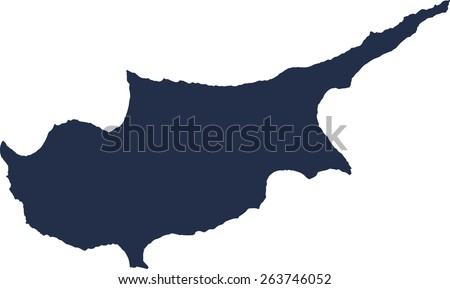 Cyprus Vector map. High detailed.  - stock vector