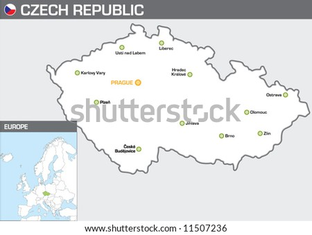 Czech Republic - stock vector