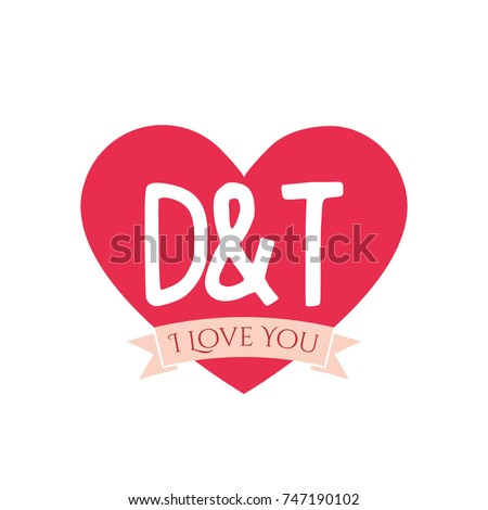b t letter inside heart st stock vector 746788066 shutterstock. Black Bedroom Furniture Sets. Home Design Ideas