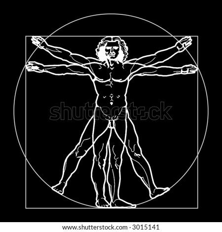 Caduceus Medical Symbol Vitruvian Man Concept Stock ... Da Vinci Symbols
