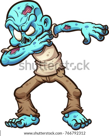 dabbing cartoon zombie vector clip art stock vector 766792312 rh shutterstock com zombie hand clipart zombie hand clipart