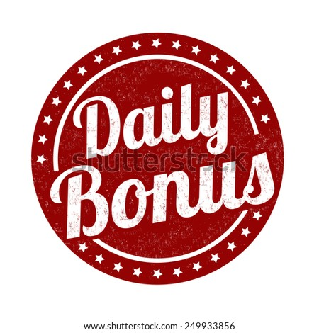 Daily bonus grunge rubber stamp on white background, vector illustration - stock vector