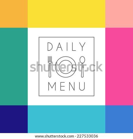 Daily menu design template. Vector  illustration. - stock vector
